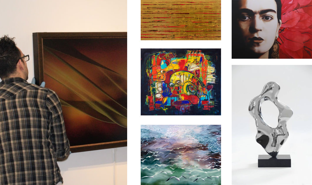Collage of Agora Gallery Artwork