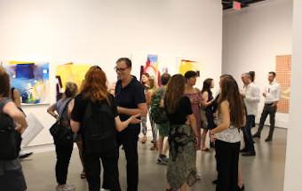 Art exhibition opening reception